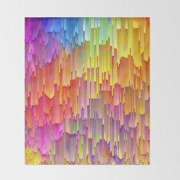 Vibrant Rainbow Cascade Design Throw Blanket