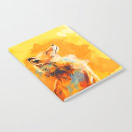 Blissful Light - Fox portrait Notebook