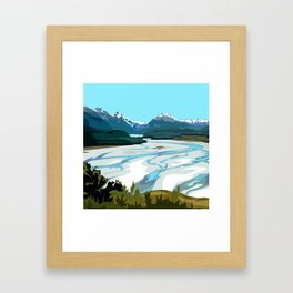 Dart River Valley, Glenorchy Framed Art Print