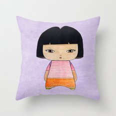 A Girl - Dora Throw Pillow