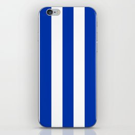UA blue - solid color - white vertical lines pattern iPhone Skin