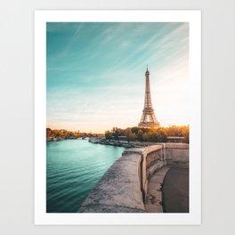 Eiffel Tower, Paris France v2 Art Print