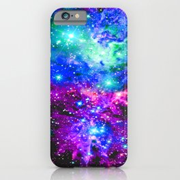 Fox Fur Nebula Galaxy Pink Purple Blue iPhone Case