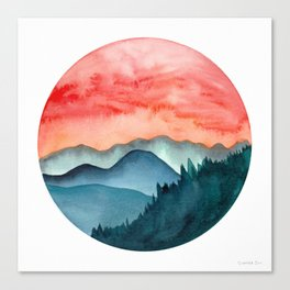 Mini dreamy landscape II Canvas Print
