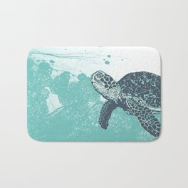 Sea Foam Sea Turtle Bath Mat