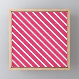 Pink Freesia Diagonal Stripes Framed Mini Art Print