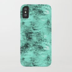 Patched Teal Waters Slim Case iPhone X