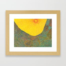 Here Comes the Sun - Van Gogh impressionist abstract Framed Art Print