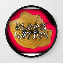 Blood Nation - Digital Collage Wall Clock