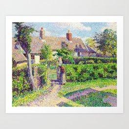 Camille Pissarro Peasant Houses in Eragny Art Print