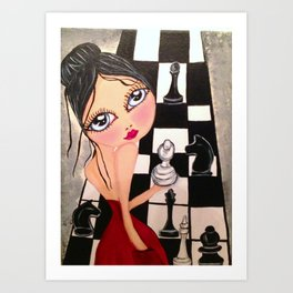 My  big eyes girl Art Print