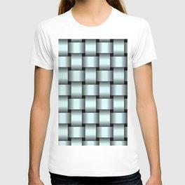 Large Light Cyan Weave T-shirt