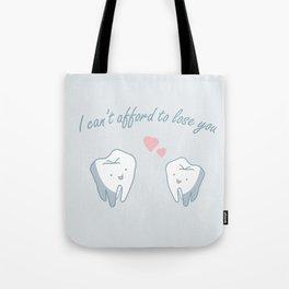 Teeth in Love  Tote Bag