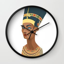 nefertiti bust Wall Clock