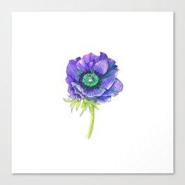 Blue Floral Elements Canvas Print