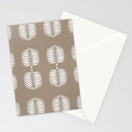 TROPICAL PALMS . COCOA + WHITE Stationery Cards