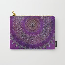 Precious Mandala in rich purple and pink tones Carry-All Pouch
