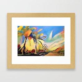 Palm Road Framed Art Print