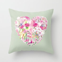 Blush Heart Throw Pillow