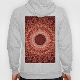 Pastel Red Mandala Hoody