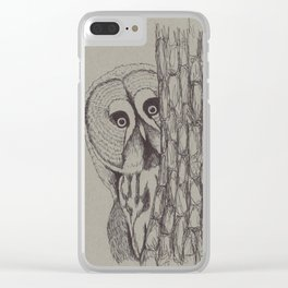 Curious Owl Clear iPhone Case