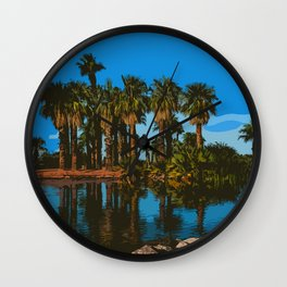 Papago Park Palms Wall Clock