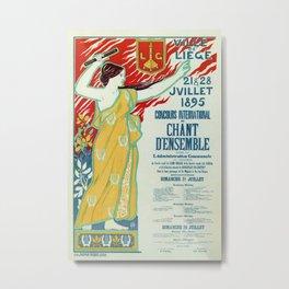 Art Nouveau concert ad Ville de Liège Metal Print