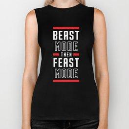 Beast Mode Then Feast Mode Biker Tank