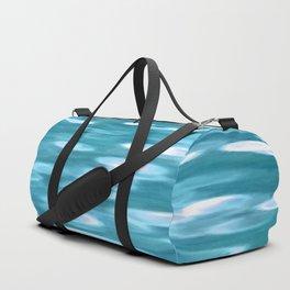 Blue-green teal shimmer Duffle Bag