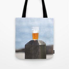 BEER DAY AT THE BEACH Tote Bag