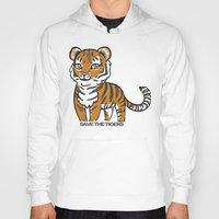 tigers Hoodies featuring TIGERs by hoshi-kou