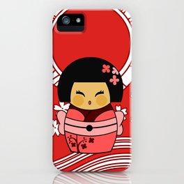 Kokeshi Sakura iPhone Case
