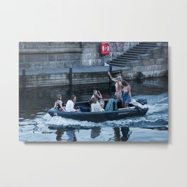 The Boat that Rocked Metal Print