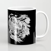 demon Mugs featuring Demon by Gregery Miller