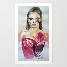 'Posh' portrait painting Art Print