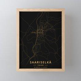 Saariselka, Finland - Gold Framed Mini Art Print