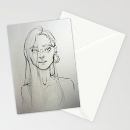 Misterious girl Stationery Cards