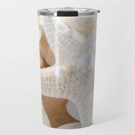 White Starfish Travel Mug