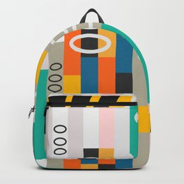 Modern abstract construction Backpack