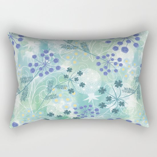 Abstract floral pattern. Rectangular Pillow