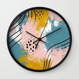 Painted Splatter Wall Clock