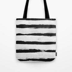 BW Stripes Tote Bag