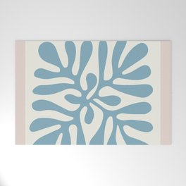 Henri Matisse abstract cut out flower lavender minimal contemporary print Welcome Mat