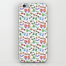 Funny insects falling in love posing for a pattern design iPhone Skin