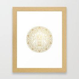 Anubis Mandala – Egypt Framed Art Print