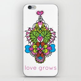 LOVE grows heart tree temple iPhone Skin