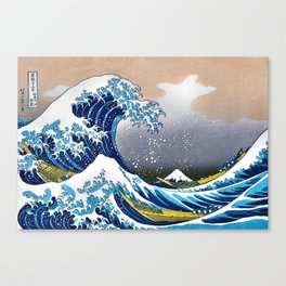 The Great Wave off Kanagawa Embossed by LarcenIII Canvas Print