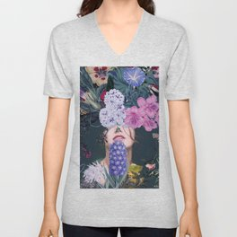 Flower woman Unisex V-Neck