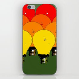LIGHTBULBS 1 iPhone Skin