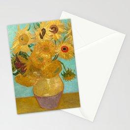 Van Gogh - Sunflowers - Vase with Twelve Sunflowers Stationery Cards